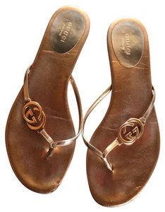 Gucci brown and gold Sandals