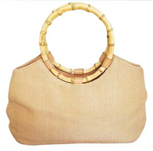 Amanda Smith #vintage #amandasmith #woven #bamboo #shoulderbag Satchel in Natural