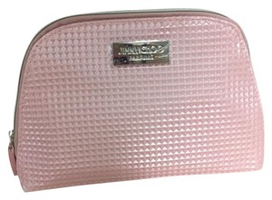 Jimmy Choo Jimmy Choo Parfums Pink Faux Leather Makeup Pouch Bag Case Clutch .New
