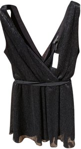 Banana Republic short dress Black Classic Fitted Sparkle Belted on Tradesy