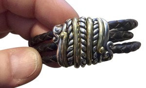 Carolyn Pollack Carolyn Pollack American West Leather & Sterling magnetic bracelet
