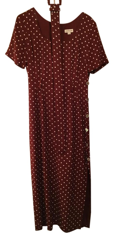 Ann Taylor Brown Like New Vintage Pretty Woman Mid Length Casual