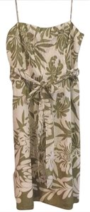 Ann Taylor short dress green/white floral on Tradesy