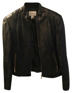 White House | Black Market Leather Black Jacket