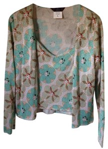 John Galliano Cardigan Set Flapper Cardigan Flowers Top