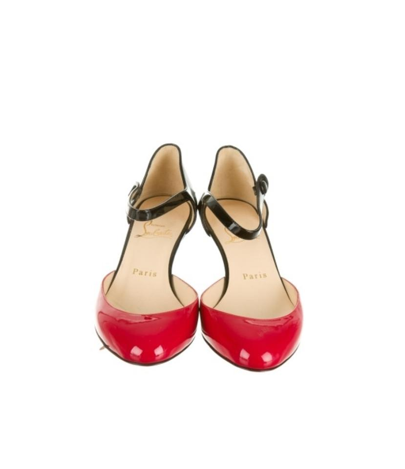 Christian Louboutin Red Pumps and Black Loubis Babes Pumps Red 929b15