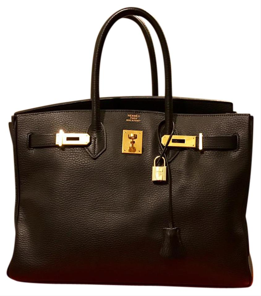 1b5abd745a Hermès Birkin 35 Black with Ghw Ardennes Leather Baguette - Tradesy