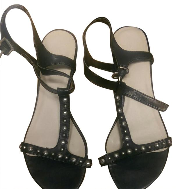 Item - Black with Silver Studs 9366486 Ny&c Sandals Size US 6 Regular (M, B)