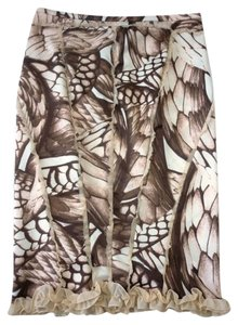 Just Cavalli Roberto Cavalli Silk Printed Ruffled Skirt Multi