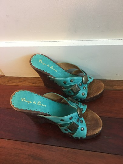 Diego di Lucca Turquoise , brown. Platforms Image 4