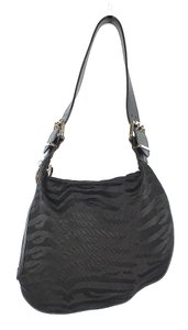 Fendi Oyster Zebra Canvas Shoulder Bag