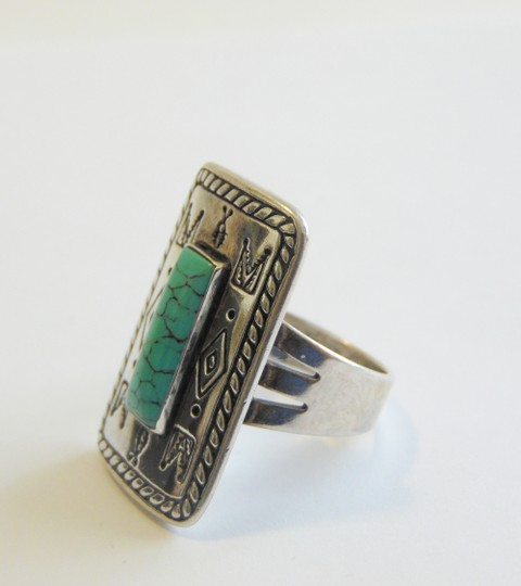 Silver Style Silver Styles .925 Sterling Silver Turquoise Ring Size 8