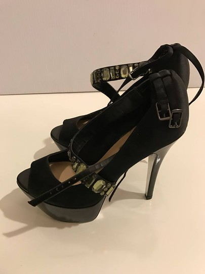 Halston black Sandals Image 5