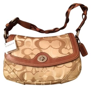 Coach Leather Chelsea Optic Signature Shoulder Bag