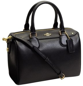 Coach F36689 Bennett Crossbody 36624 Satchel in Black gold