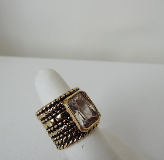 Real Collectibles by Adrienne Real Collectibles Crystal Texture Band Ring Size 8