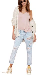 One Teaspoon Boyfriend Cut Jeans-Light Wash