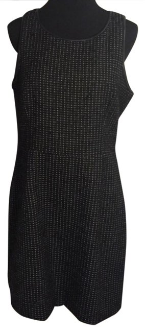 Preload https://img-static.tradesy.com/item/20853377/theory-black-leather-trimmed-mid-length-workoffice-dress-size-12-l-0-1-650-650.jpg