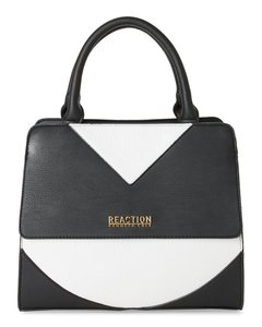 Kenneth Cole Reaction White Tote Handbag Satchel in Black