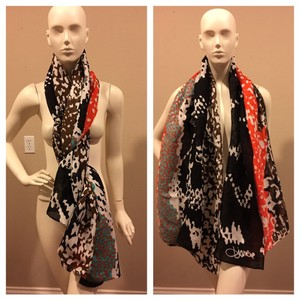 Diane von Furstenberg DVF Scarf Orange Multi color