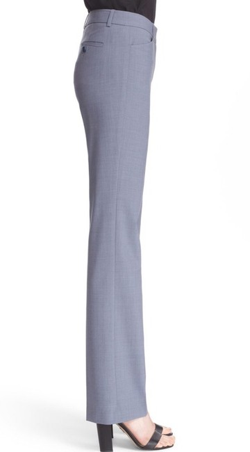 Theory Blue Gray Custom Max Wool Suit Trouser Pants Image 1