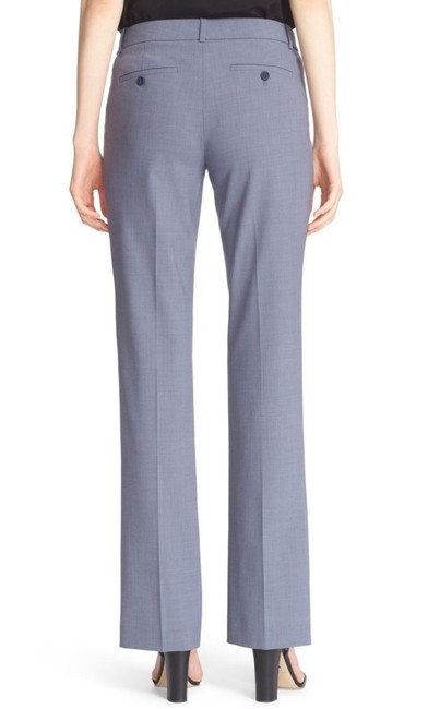 Theory Blue Gray Custom Max Wool Suit Trouser Pants Image 2