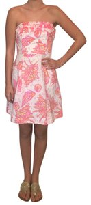 Lilly Pulitzer short dress pink white and hint of yellow on Tradesy