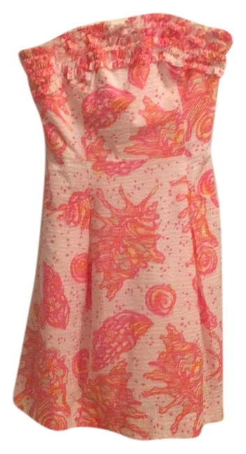 Lilly Pulitzer short dress pink white and hint of yellow on Tradesy Image 1