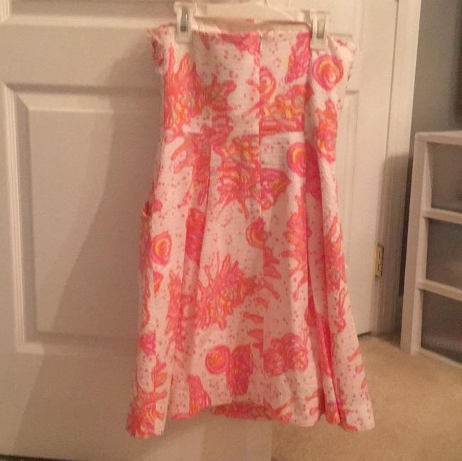 Lilly Pulitzer short dress pink white and hint of yellow on Tradesy Image 2