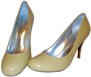 Jessica Simpson Patent Classic Neutral Taupe Pumps