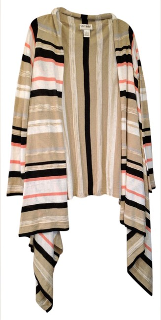 Preload https://img-static.tradesy.com/item/20853643/kate-and-mallory-tanwhiteblackpeach-multi-color-striped-openfront-cardigan-size-12-l-0-1-650-650.jpg