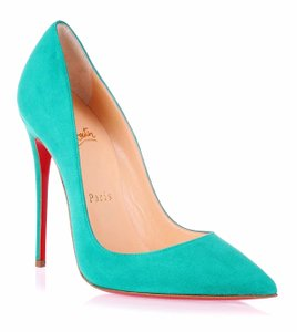 Christian Louboutin So Kate Suede Green 35 5 Mint Pumps