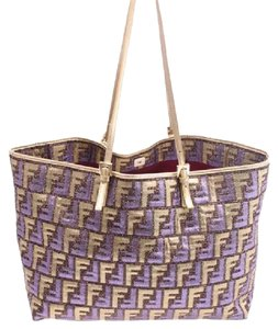 Fendi Tote in purple, gold