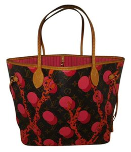 Louis Vuitton Tote in Brown/coral/red