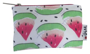 Clinique Clinique Watermelon Print Pink Green Canvas Cosmetic Bag Makeup Purse