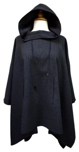 Harvé Benard Wool Hooded Wool Boho Cape