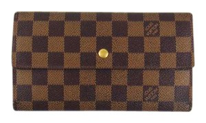 Louis Vuitton International Damier Canvas Leather Long Clutch Wallet