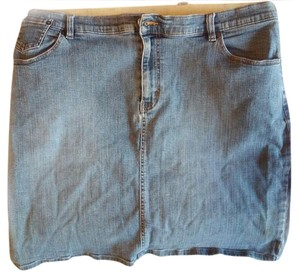 Venezia by Lane Bryant Mini Skirt Blue denim