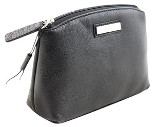 Calvin Klein Calvin Klein Leather Cosmetic Case in Black