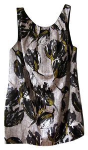 Rebecca Taylor Silk Cotton Floral Scoop Top black