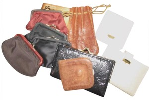 baronet fifth ave 9 vintage and antique wallets coin purses and a leather drawstring pouch