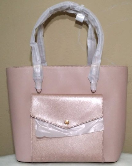 Michael Kors Jet Set Item Snap Pocket Jet Set Travel Tote in pink Image 11