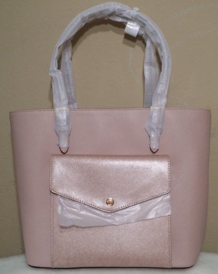 Michael Kors Jet Set Item Snap Pocket Jet Set Travel Tote in pink Image 5
