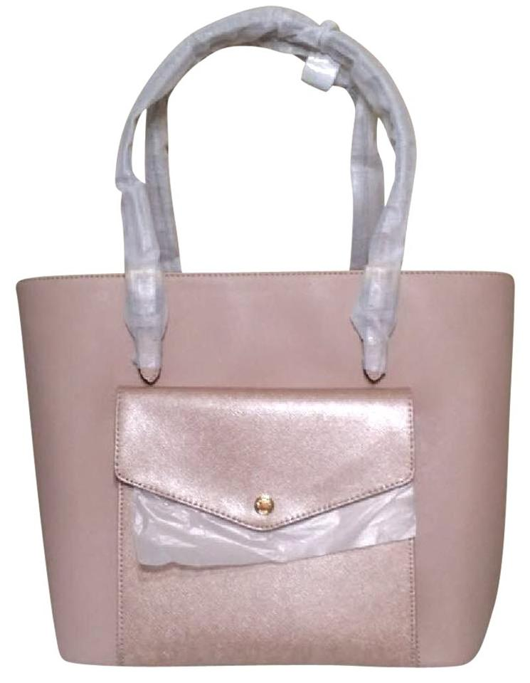 9345ac80d030 Michael Kors Jet Set Large Center Zip Pocket 35h6mttt3l Pink Ballet Leather  Tote