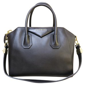 Givenchy Small Leather Antigona Satchel in black
