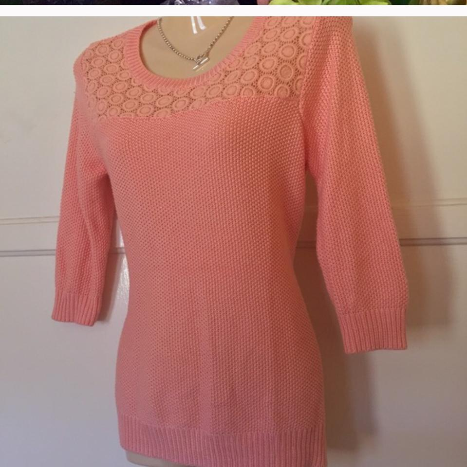 Pink Rose Sweater/Pullover Size 8 (M) - Tradesy