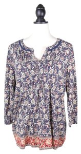 Lucky Brand Print Top BLUE