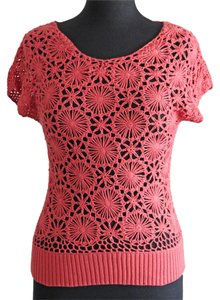 Maurices Crochet Top Coral