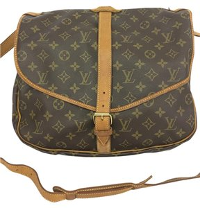 Louis Vuitton Lv Monogram Saumur 35 Canvas Cross Body Bag