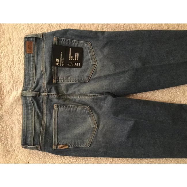 Paige Flare Leg Jeans-Medium Wash Image 1